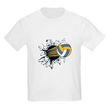 Volleyball Ripping Through Kids T-Shirt