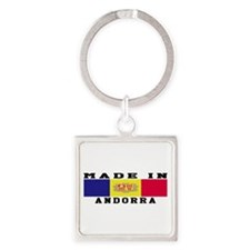 Andorra Made In Square Keychain