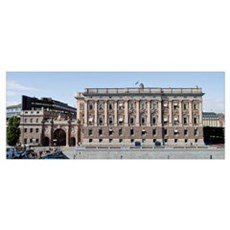 Facade of the Parliament Building, Riksdagshuset, Framed Print