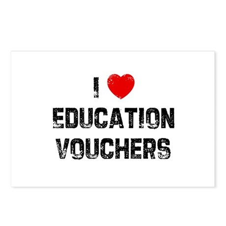 I * Education Vouchers Postcards (Package of 8)