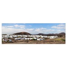 Houses in a town, Uga, Lanzarote, Canary Islands,  Poster