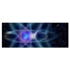 Illustrative representation of atom Poster