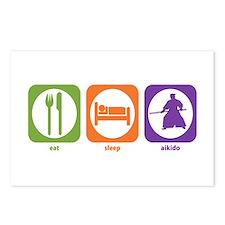Eat Sleep Aikido Postcards (Package of 8)