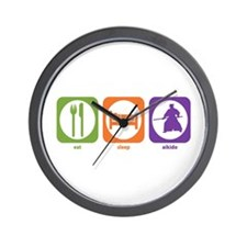 Eat Sleep Aikido Wall Clock