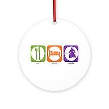 Eat Sleep Aikido Ornament (Round)