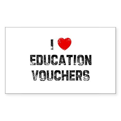 I * Education Vouchers Rectangle Sticker