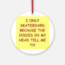 Skateboard (round) Round Ornament