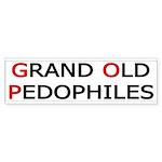 GOP: Grand Old Pedophiles Bumper Sticker