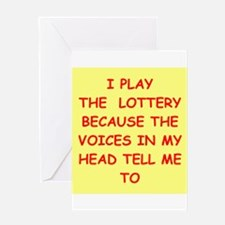 LOTTERY Greeting Card