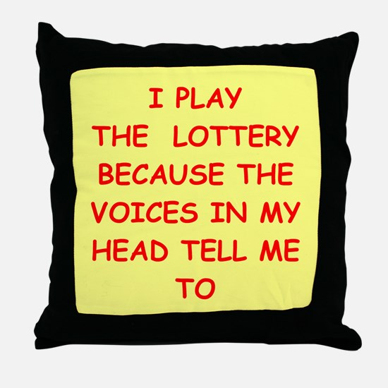 LOTTERY Throw Pillow