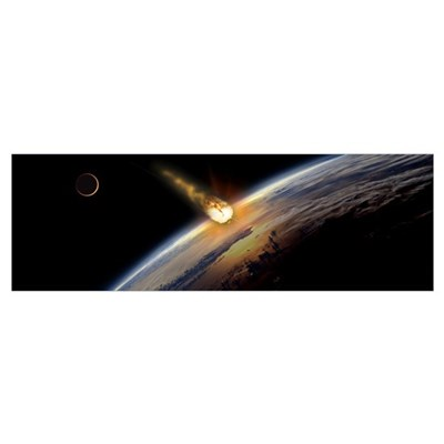 Meteor heading towards earth Poster