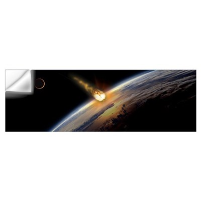 Meteor heading towards earth Wall Decal