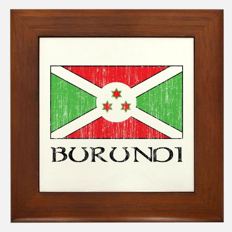 Burundi Flag Framed Tile