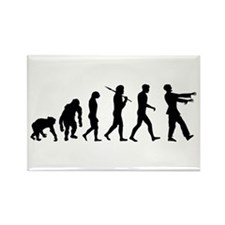 Zombie Evolution Rectangle Magnet