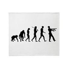 Zombie Evolution Throw Blanket