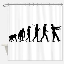 Zombie Evolution Shower Curtain