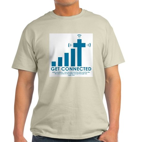 """Get Connected"" Ash Grey T-Shirt"