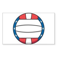 Stars and Stripes (USA) Volleyball Decal
