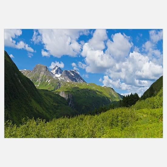 Mountain range, Kenai Mountains, Kenai Peninsula,