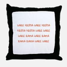 Hare Krsna Maha Mantra Throw Pillow