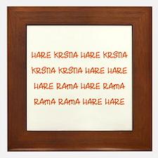Hare Krsna Maha Mantra Framed Tile