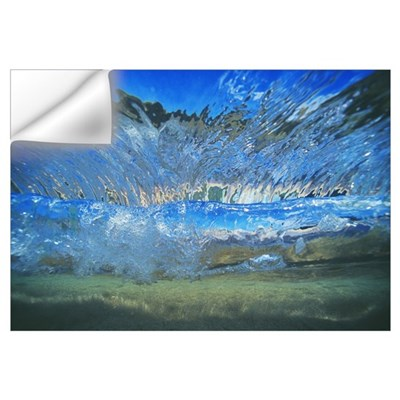 Abstract Underwater View Of Waves And Surf Wall Decal
