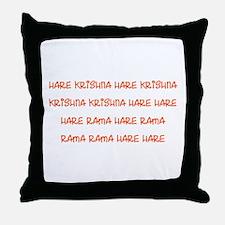 Hare Krishna Maha Mantra Throw Pillow