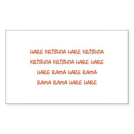Hare Krishna Maha Mantra Sticker
