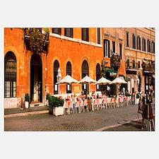 People at sidewalk cafe, Piazza Navona, Rome, Lazi