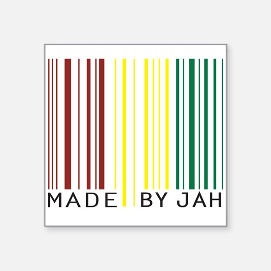 made by jah Rectangle Sticker