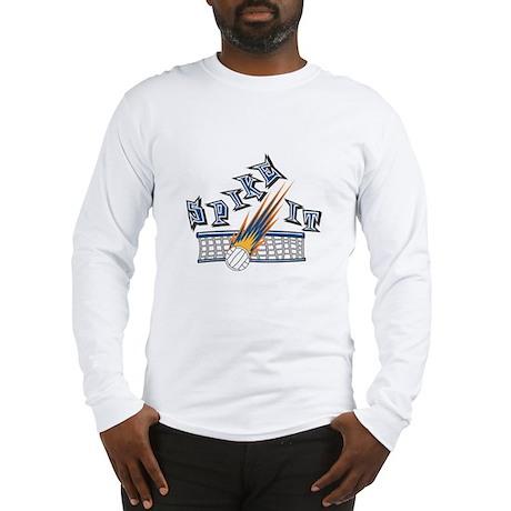 Spike It Volleyball Design Long Sleeve T-Shirt