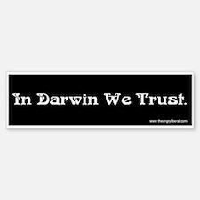 """In Darwin We Trust"" Bumpersticker"