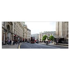 People walking along a road, City of Westminster,  Canvas Art