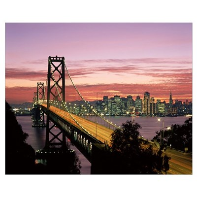 California, San Francisco, Sunset On Bay And Skyli Canvas Art