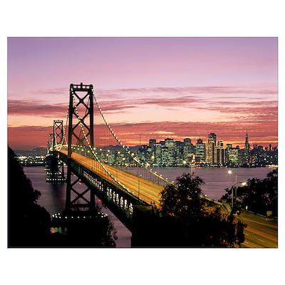 California, San Francisco, Sunset On Bay And Skyli Poster
