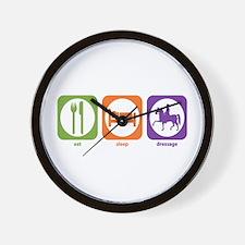 Eat Sleep Dressage Wall Clock