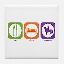 Eat Sleep Dressage Tile Coaster