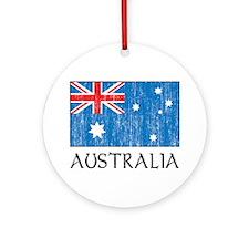 Australian Flag Ornament (Round)