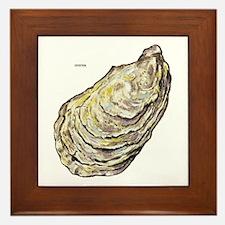 Oyster Sea Life Framed Tile