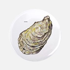 """Oyster Sea Life 3.5"""" Button"""