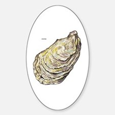 Oyster Sea Life Sticker (Oval 10 pk)