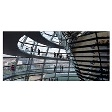 Reichstag Dome, The Reichstag, Berlin, Germany Framed Print