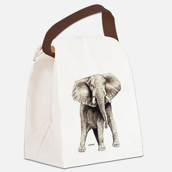 Elephant Animal Canvas Lunch Bag