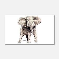 Elephant Animal Car Magnet 20 x 12
