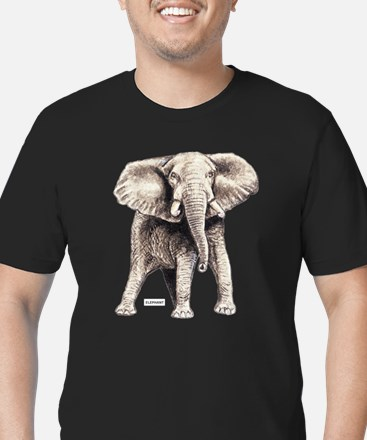 Elephant Animal Men's Fitted T-Shirt (dark)