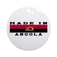 Angola Made In Ornament (Round)