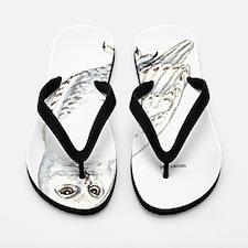 Snowy Owl Bird Flip Flops