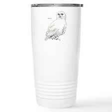 Snowy Owl Bird Travel Coffee Mug