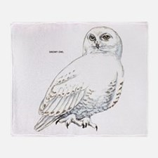 Snowy Owl Bird Throw Blanket