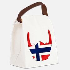 Norway Viking Helmet Canvas Lunch Bag